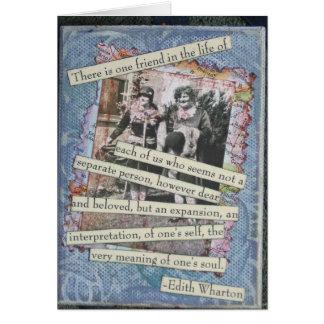Cartão da colagem da caixa da amizade