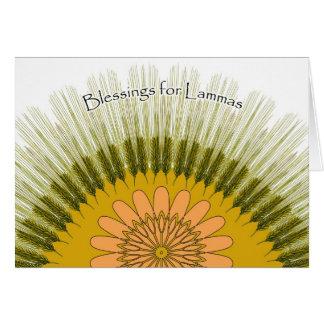 Cartão da colheita da cevada de Lammas Lughnasadh