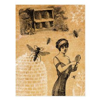 Cartão da colmeia do vintage