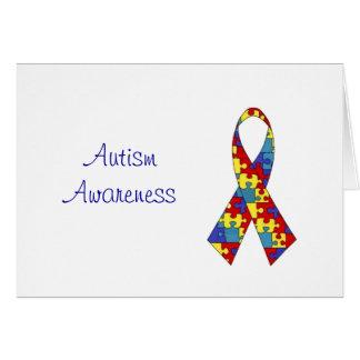 Cartão da consciência do autismo