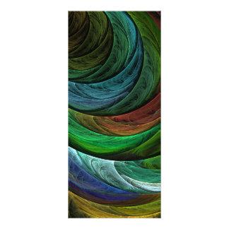 Cartão da cremalheira da arte abstracta da glória 10.16 x 22.86cm panfleto