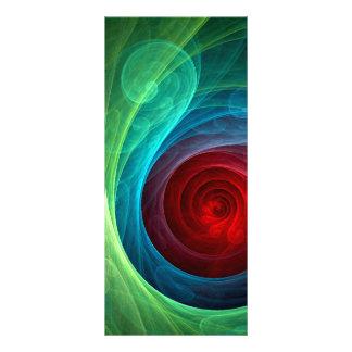 Cartão da cremalheira da arte abstracta de Red 10.16 X 22.86cm Panfleto