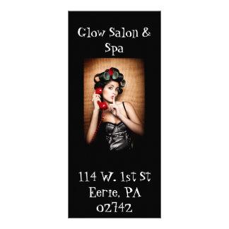 Cartão da cremalheira do salão de beleza & dos ter 10.16 x 22.86cm panfleto