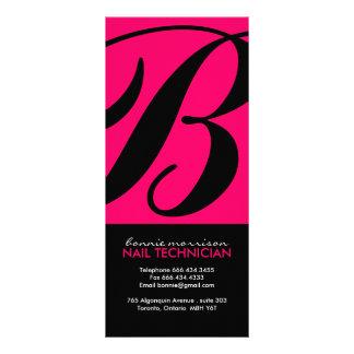 Cartão da cremalheira do técnico do prego modelos de panfletos informativos