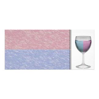 Cartão da cremalheira do vidro de vinho 10.16 x 22.86cm panfleto