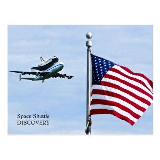 Cartão da descoberta do vaivém espacial cartão postal