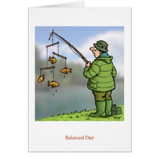 Cartão da dieta equilibrada
