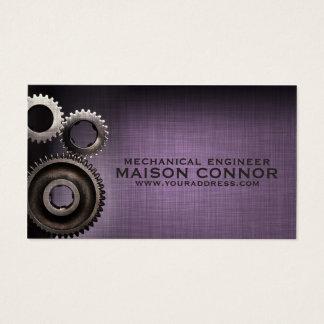 Cartão da engenharia mecânica do design da