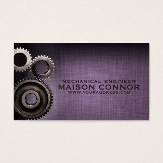 Cartão da engenharia mecânica do design da cartão de visita