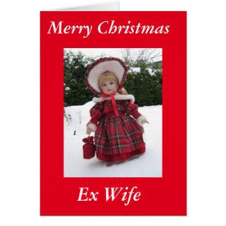 """Cartão Da """"esposa ex do Xmas feliz"""