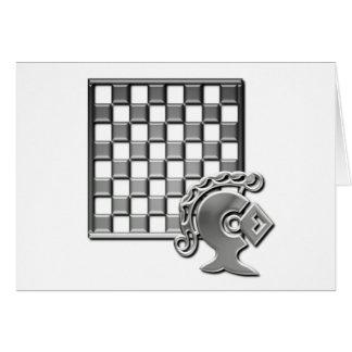 Cartão da estratégia da xadrez