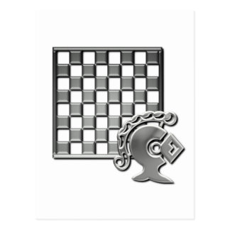 Cartão da estratégia da xadrez cartao postal