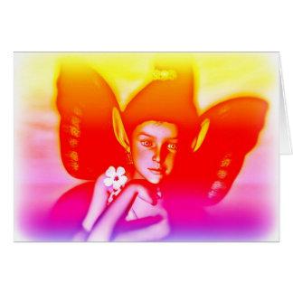 Cartão da fada do arco-íris