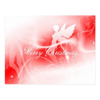 Cartão da fada do Feliz Natal Cartão Postal