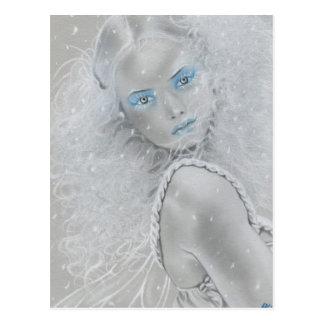 Cartão da fada do floco de neve cartão postal