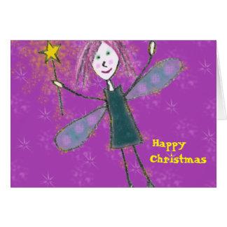 Cartão da fada do Natal