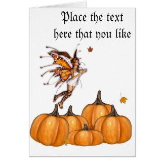 Cartão da fada do outono