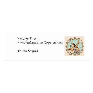 Cartão da felicidade do vintage mini cartão de visita skinny