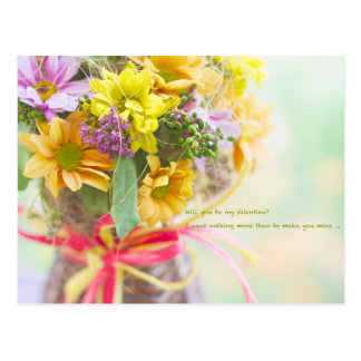 Cartão da flor do dia dos namorados cartão postal