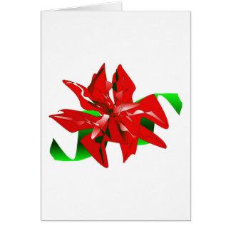 Cartão da flor do Natal customizável