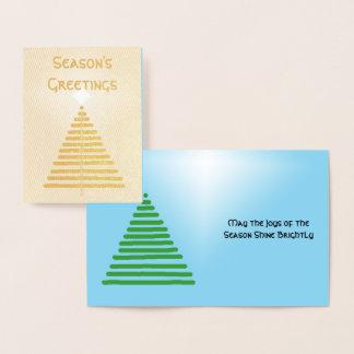 Cartão da folha - árvore gráfica com estrela