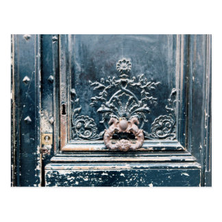Cartão da foto da aldrava de porta de Paris