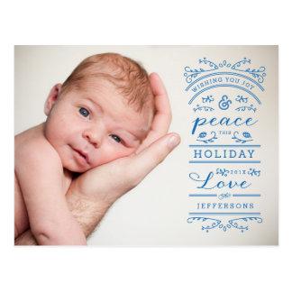 Cartão da foto da tipografia do feriado de cartão postal