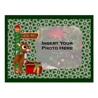 Cartão da foto do feriado do Natal