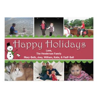 Cartão da foto do Natal festivo multi