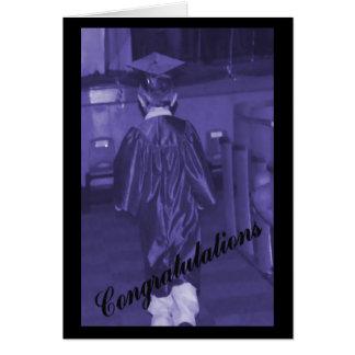 Cartão da graduação dos homens