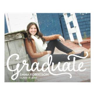 Cartão da graduação flyer 11.43 x 14.22cm