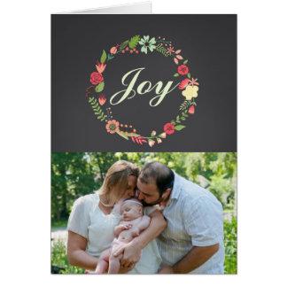 Cartão da grinalda do Natal da alegria