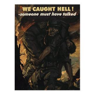 Cartão da guerra mundial do vintage