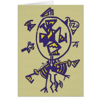 cartão da imagem do nativo americano