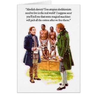 Cartão da imaginação do Abolitionism