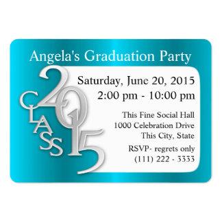 Cartão da inserção da foto da festa de formatura cartão de visita grande