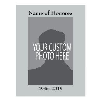 Cartão da lembrança da cerimonia comemorativa com cartão postal