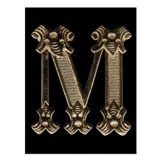 Cartão da letra M