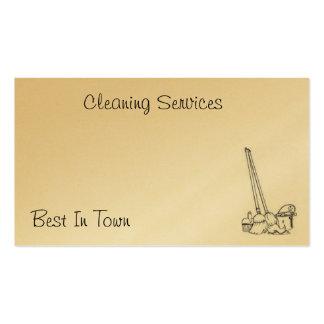 Cartão da limpeza modelo cartoes de visita