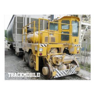 Cartão da locomotiva do motor do Railcar de Cartão Postal