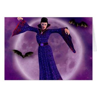 cartão da lua do vampiro