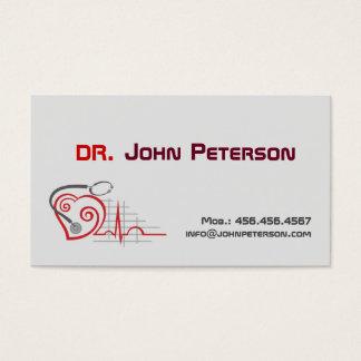 Cartão da medicina do médico prática do médico