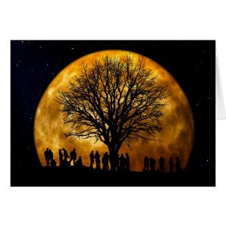 Cartão da meia-noite da Lua cheia
