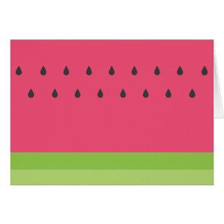 Cartão da melancia - vazio para dentro
