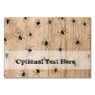 Cartão da mesa do Dia das Bruxas das aranhas