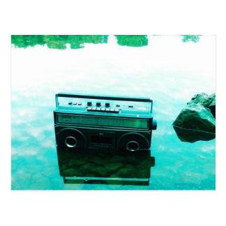 Cartão da música! cartão postal