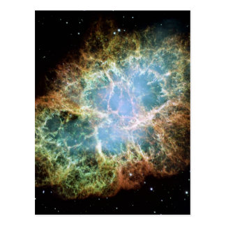 Cartão da nebulosa de caranguejo