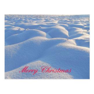 Cartão da neve do Feliz Natal Cartões Postais