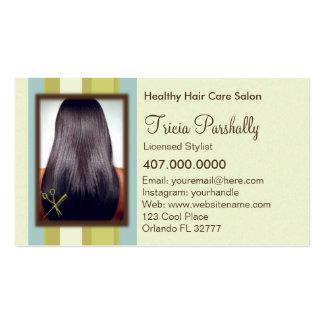 Cartão da nomeação do cabeleireiro do afro-america