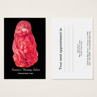 Cartão da nomeação do Hairstylist